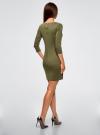 Платье облегающего силуэта на молнии oodji #SECTION_NAME# (зеленый), 14001105-6B/46944/6800N - вид 3