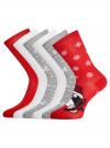 Комплект из шести пар хлопковых носков oodji #SECTION_NAME# (разноцветный), 57102902-4T6/10231/9 - вид 2