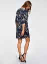 Платье принтованное прямого силуэта oodji #SECTION_NAME# (синий), 21900322-1/42913/7919F - вид 3