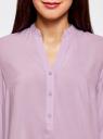 Блузка базовая из вискозы oodji #SECTION_NAME# (фиолетовый), 21412129-1/24681/8000N - вид 4