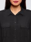 Блузка базовая из вискозы с нагрудными карманами oodji #SECTION_NAME# (черный), 11411127B/42540/2900N - вид 4