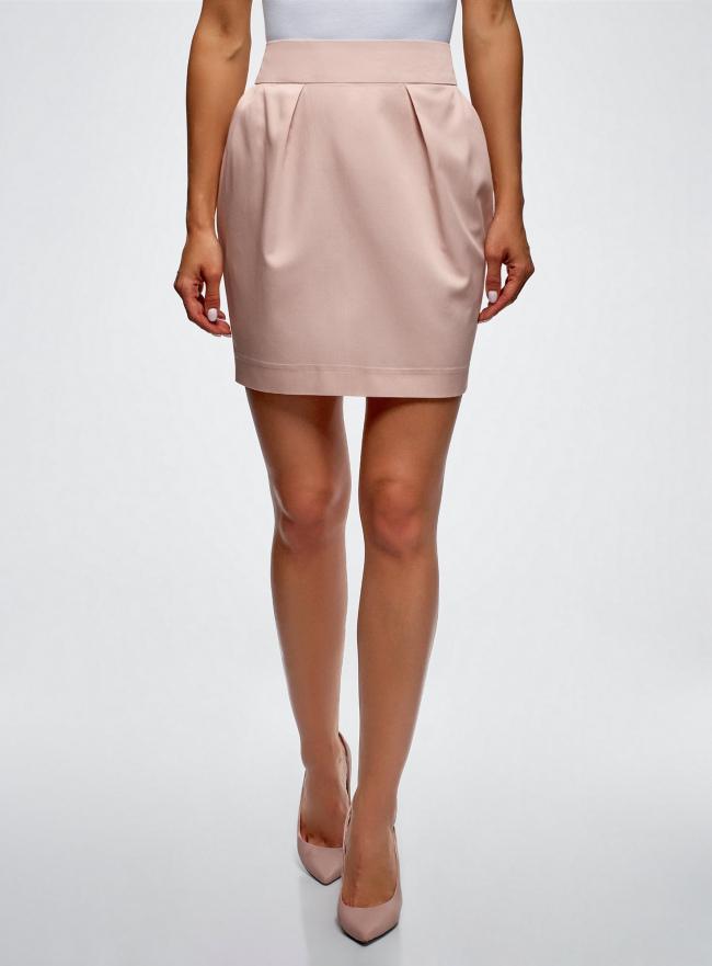 Юбка-тюльпан из вискозы oodji для женщины (розовый), 11605061-1/35319/4000N