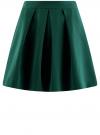 Юбка расклешенная со встречными складками  oodji #SECTION_NAME# (зеленый), 11600396-1/43102/6900N