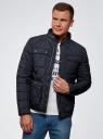 Куртка стеганая с карманами oodji #SECTION_NAME# (синий), 1L111028M/34857N/7900N - вид 2