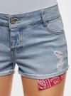 Шорты джинсовые с банданой oodji #SECTION_NAME# (синий), 12807088/46787/7000W - вид 4