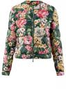 Куртка стеганая с круглым вырезом oodji #SECTION_NAME# (зеленый), 10203072B/42257/6955F