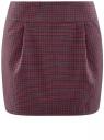 Юбка короткая с карманами oodji #SECTION_NAME# (красный), 11605056-2/22124/7943C