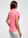Рубашка базовая с коротким рукавом oodji #SECTION_NAME# (розовый), 11402084-5B/45510/4000Y - вид 3