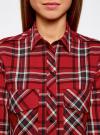 Рубашка в клетку с нагрудными карманами oodji #SECTION_NAME# (красный), 11411052-2/45624/4579C - вид 4