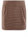 Юбка короткая с карманами oodji для женщины (бежевый), 11605056-2/22124/3337C