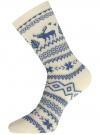 Комплект из шести пар хлопковых носков oodji для женщины (разноцветный), 57102902-5T6/49118/47 - вид 3