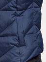 Жилет стеганый с капюшоном oodji для женщины (синий), 19400016-5/32754/7900N