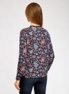 Блузка из струящейся ткани с контрастной отделкой oodji #SECTION_NAME# (разноцветный), 11411059B/43414/7945F - вид 3