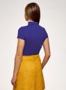 Водолазка приталенная с коротким рукавом oodji для женщины (синий), 15E11023/49998/7500N