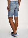 Шорты джинсовые с принтом oodji #SECTION_NAME# (синий), 6L220020M/35771/7400W - вид 3