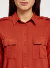 Блузка базовая из вискозы с нагрудными карманами oodji #SECTION_NAME# (красный), 11411127B/26346/4501N - вид 4