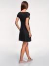 Платье трикотажное с юбкой-трапецией oodji #SECTION_NAME# (черный), 14001209-1/42626/2900N - вид 3