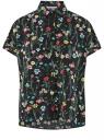 Блузка вискозная свободного силуэта oodji для женщины (черный), 11405139-1/24681/2545F