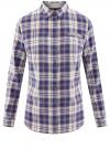 Рубашка принтованная хлопковая oodji #SECTION_NAME# (синий), 11406019/43593/7540C