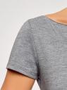 Платье трикотажное с вырезом-лодочкой oodji #SECTION_NAME# (серый), 14001117-2B/16564/2500M - вид 5
