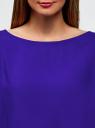 Блузка вискозная базовая oodji #SECTION_NAME# (синий), 11411135-3B/26346/7503N - вид 4