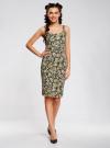 Платье-майка трикотажное oodji #SECTION_NAME# (желтый), 14015007-3B/37809/2912F - вид 2