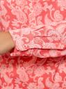 Блузка вискозная прямого силуэта oodji #SECTION_NAME# (красный), 21400394-1B/24681/4312E - вид 5