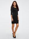 Платье трикотажное из фактурной ткани oodji #SECTION_NAME# (черный), 24001100-6/45351/2900N - вид 6