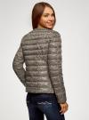 Куртка стеганая с круглым вырезом oodji #SECTION_NAME# (бежевый), 10204040-1B/42257/3329A - вид 3