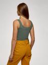 Майка базовая oodji для женщины (зеленый), 14315001-1B/46174/6629P