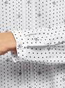 Блузка с декоративными завязками и оборками на воротнике oodji для женщины (белый), 11411091-2/36215/1229D