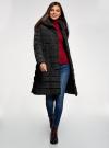 Пальто стеганое с объемным воротником oodji для женщины (черный), 10204049-1B/24771/2900N - вид 2