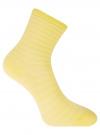 Комплект хлопковых носков в полоску (3 пары) oodji #SECTION_NAME# (желтый), 57102813T3/48022/4 - вид 3