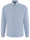 Рубашка приталенная с графичным принтом oodji #SECTION_NAME# (синий), 3L110249M/44425N/1079G