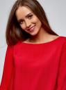 Блузка вискозная базовая oodji #SECTION_NAME# (красный), 11411135-3B/26346/4501N - вид 4