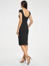 Платье миди с вырезом на спине oodji #SECTION_NAME# (черный), 24001104-5B/47420/2900N - вид 3
