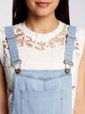 Комбинезон джинсовый с нагрудным карманом oodji #SECTION_NAME# (синий), 13108004/45379/7000W - вид 4