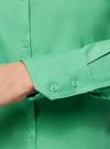 Рубашка базовая из хлопка oodji #SECTION_NAME# (зеленый), 11403227B/14885/6500N - вид 5