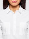Рубашка базовая с нагрудными карманами oodji #SECTION_NAME# (белый), 11403222B/42468/1000N - вид 4