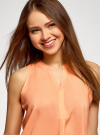 Топ базовый из вискозы oodji для женщины (оранжевый), 14911008-1B/48756/5400N - вид 4