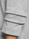 Жакет трикотажный с рукавом 3/4 oodji для женщины (серый), 17901016-2/46944/2301M