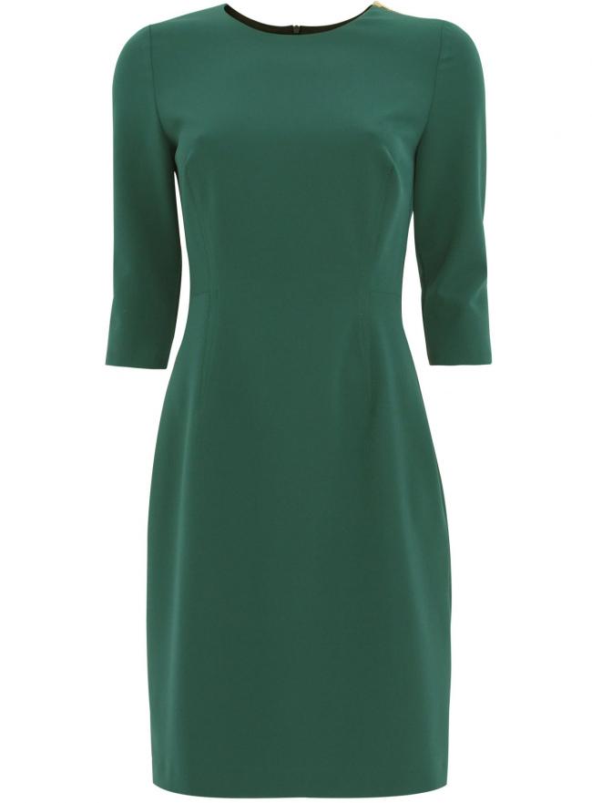 Платье oodji для женщины (зеленый), 21900331/43629/6900N