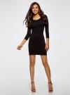 Платье облегающее (комплект из 2 штук) oodji для женщины (черный), 14001193T2/47420/2900N - вид 2