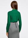 Блузка базовая из вискозы oodji #SECTION_NAME# (зеленый), 11411136B/26346/6E00N - вид 3