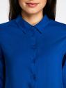 Блузка базовая из вискозы oodji #SECTION_NAME# (синий), 11411136B/26346/7500N - вид 4