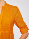 Туника с V-образным вырезом oodji #SECTION_NAME# (оранжевый), 21412068-2/19984/5500N - вид 5