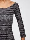 Платье облегающее с вырезом-лодочкой oodji #SECTION_NAME# (черный), 14017001-5B/46944/2912N - вид 5