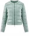 Куртка стеганая с круглым вырезом oodji для женщины (зеленый), 10203050-2B/47020/6C01N