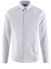 Рубашка базовая приталенная oodji #SECTION_NAME# (белый), 3B110019M/44425N/1079G