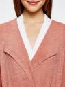 Кардиган из ленточной пряжи oodji #SECTION_NAME# (розовый), 73205043-3B/46604/4B00N - вид 4